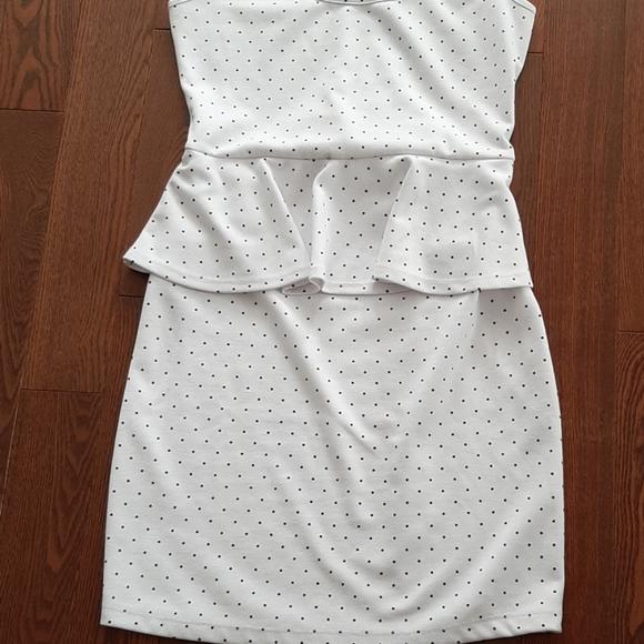 Peplum knit dress